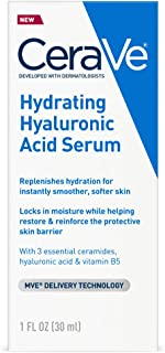 Cerave Hyaluronic Acid Serum for Face with Vitamin B5 and Ceramides | Hydrating Face Serum for Dry Skin | Fragrance Free |...