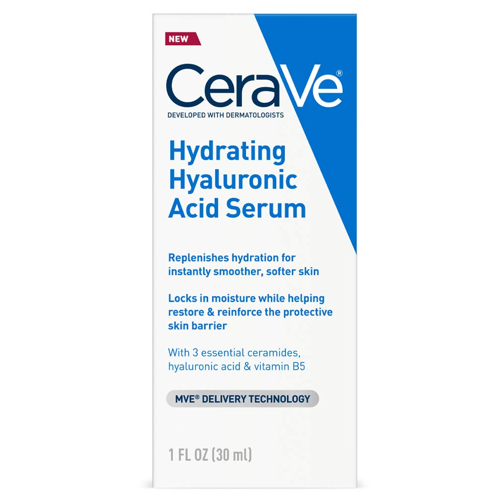 Cerave Hyaluronic Acid Serum for Face with Vitamin B5 and Ceramides   Hydrating Face Serum for Dry Skin   Fragrance Free