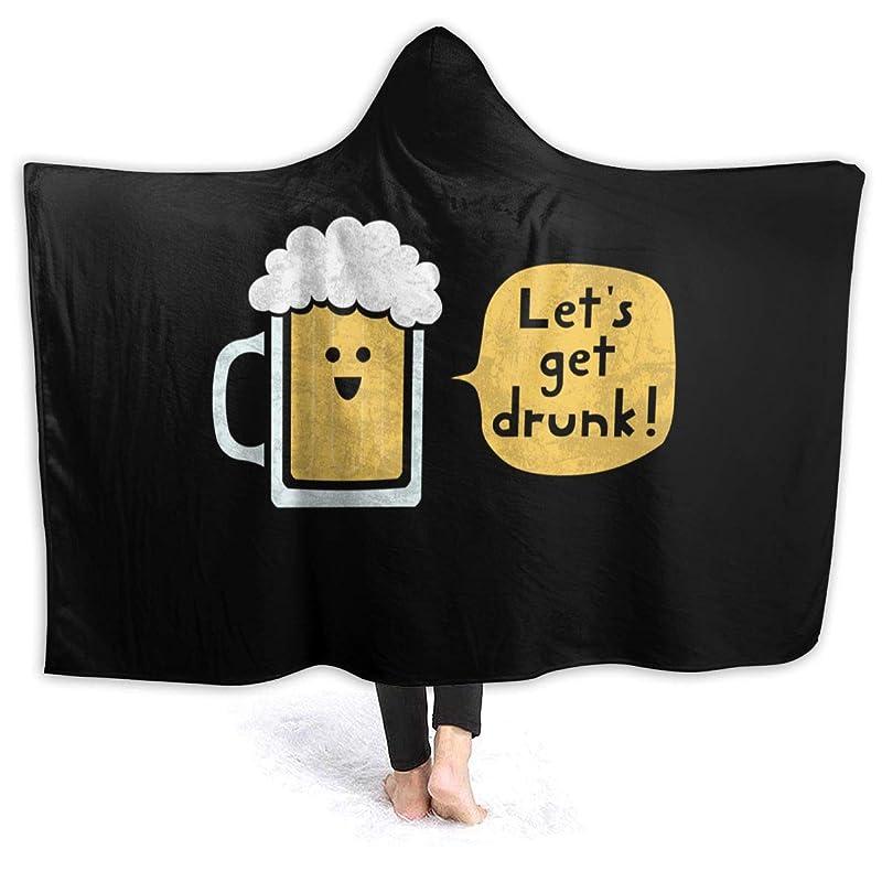 物思いにふけるホイスト迷路HR.LLM ビール 飲む 酒 フード付き毛布 着る毛布 毛布 膝掛け毛布 ラップタオル 冷房/防寒対策 防寒保温 防静電加工 軽量 厚手 大判