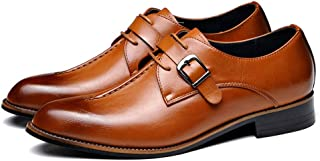 Uomo Casual Oxfords Business Monk Strap Slip On Work Mocassini da Guida Walking Shoes Buckle Boat Mocassini