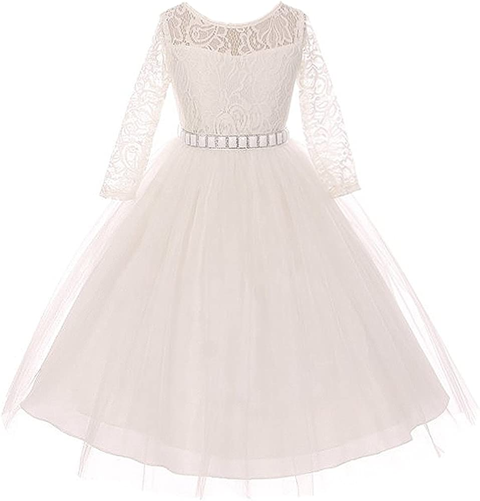 CrunchyCucumber Long Sale special price Sleeve Stretchy Lace Flo Max 64% OFF Bodice Tulle Skirt