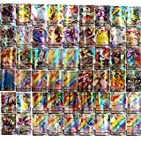 Funmix Tarjetas compatibles con Pokemon, Tarjetas Flash 100 Piezas de Tarjetas Vmax, Juego de Cartas coleccionables de Pokemon, Tarjetas de Juego para niños, Juguete Educativo
