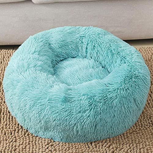 Qweias hondenkussen, warm, kat tapijt = rond, groot kussen, wasbaar, Deluxe, zacht kussen voor honden / katten
