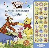 27-Button-Soundbuch - Winnie Puuh, Disney: Unsere schönsten Lieder - 27 bekannte Kinderlieder zum Mitsingen - Hardcover-Buch mit Noten - Liederbuch