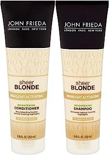 John Frieda Sheer Blonde Highlight Activating Enhancing, DUO set Shampoo + Conditioner, For Darker Blondes, 8.45 Ounce, 1 ...