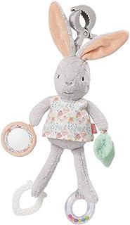 Fehn 062083 Activity-Spieltier Hase | Motorikspielzeug zum Aufhängen mit Spiegel & Ringen zum Beißen, Greifen und Geräusche erzeugen | Für Babys und Kleinkinder ab 0 Monaten