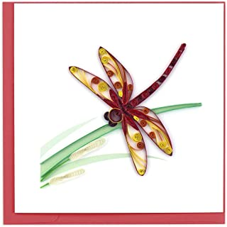 Quilling Card 3-D Greeting Card - DRAGONFLY