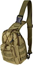 REDGO Military Tactical Backpack Shoulder Bag Sling Chest Pack for Camping Travel Outdoor Sport Hiking Trekking