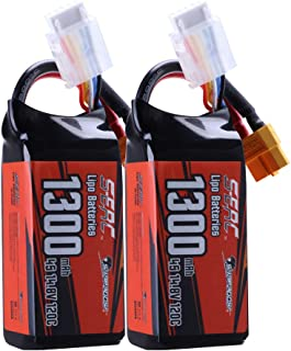 Sunpadow 4S 14.8V Lipo Battery 1300mAh 120C Soft Pack with XT60 Connector for RC FPV Quadcopter Airplane Helicopter Airpla...