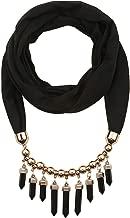 LERDU Women's Scarf Necklace Ladies Gift Idea Versatile Unique Pendant Scarfs Infinity Scarf with Jewelry Accessory