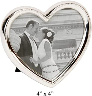 Elegant Silver Plated Heart Shaped Photo Frame By Haysom Interiors