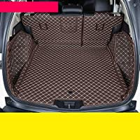 JINRYIGK 車のトランクマットホンダCrv2019 2020 5th Cr-Vラグカーペットインテリアアクセサリー用レザーカートランクマットカーゴライナー、コーヒー2、ハイブリッドバージョン