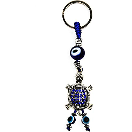 Details about  /Lucky Turtle Tortoise Evil Eye Ocean Keychain Blessing Shield Tortuga Llavero
