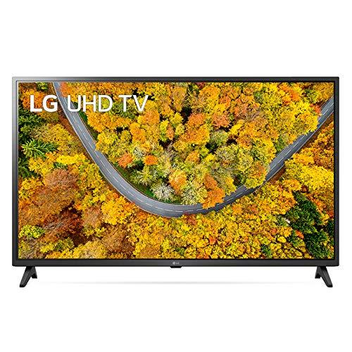 """LG 43UP75006LF Smart TV LED Ultra HD 4K 43"""", con Wi-Fi, Processore Quad Core 4K, HDR 10, DVB-T2/S2, Wide Color, Compatibile con Google Assistant e Alexa, Grigio"""