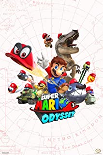 Pyramid America Super Mario Odyssey Map Video Game Gaming Cool Wall Decor Art Print Poster 12x18