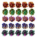 Jinlaili 20PCS Colorful Crinkle Balls Cat Toys, Cats Toys Balls, Cat Interactive Toys, Mylar Balls Crinkle Balls Kitten Toys, Cat Toys Balls Rustle Sound Ball Fun Toy for Cats Kitten Dog Playing