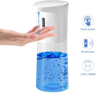 HAOHUNT Automatic Soap Dispenser Infrared Liquid Hand Soap Dispenser touchless with 17oz Large Capacity Applicable for Kitchen Bathroom School Hotel Hospital Restaurant