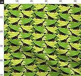 Frösche, Amphibien, Frühling, Kröten, Mosaike Stoffe -