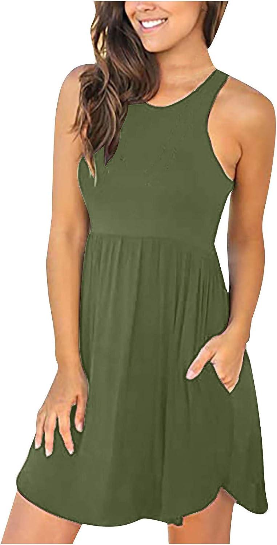 MoKFE Womens Summer Dresses Sleeveless Swing Popular shop is the lowest price challenge Over item handling ☆ C Dress Casual Mini