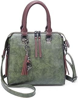 Portable New Retro Casual Fashion Bills Shoulder Slung Female Bag Bucket Bag PU Female Bag (Color : Green)