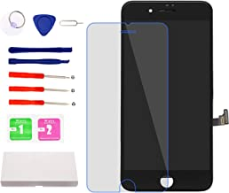 Screen Replacement for iPhone 7 Plus Black, LCD Display and Touch Screen Digitizer Replacement with Repair Tools and Screen Protector with A1661 A1784 A1785 All Version