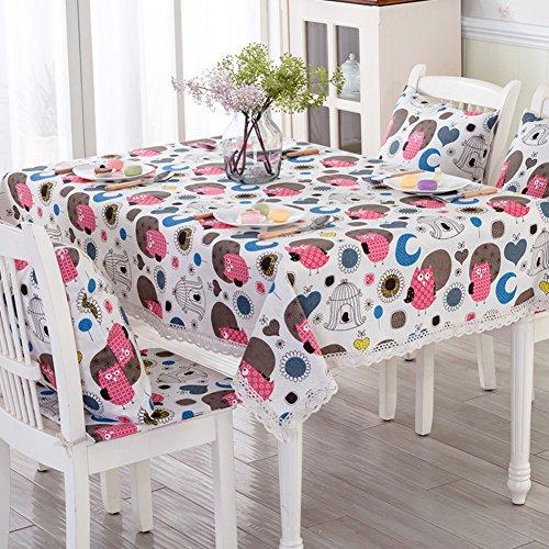 coton dentelle nappe tissu Café en plein air table linge de table ronde nappe englobent les serviettes -G 55x55cm(22x22inch)