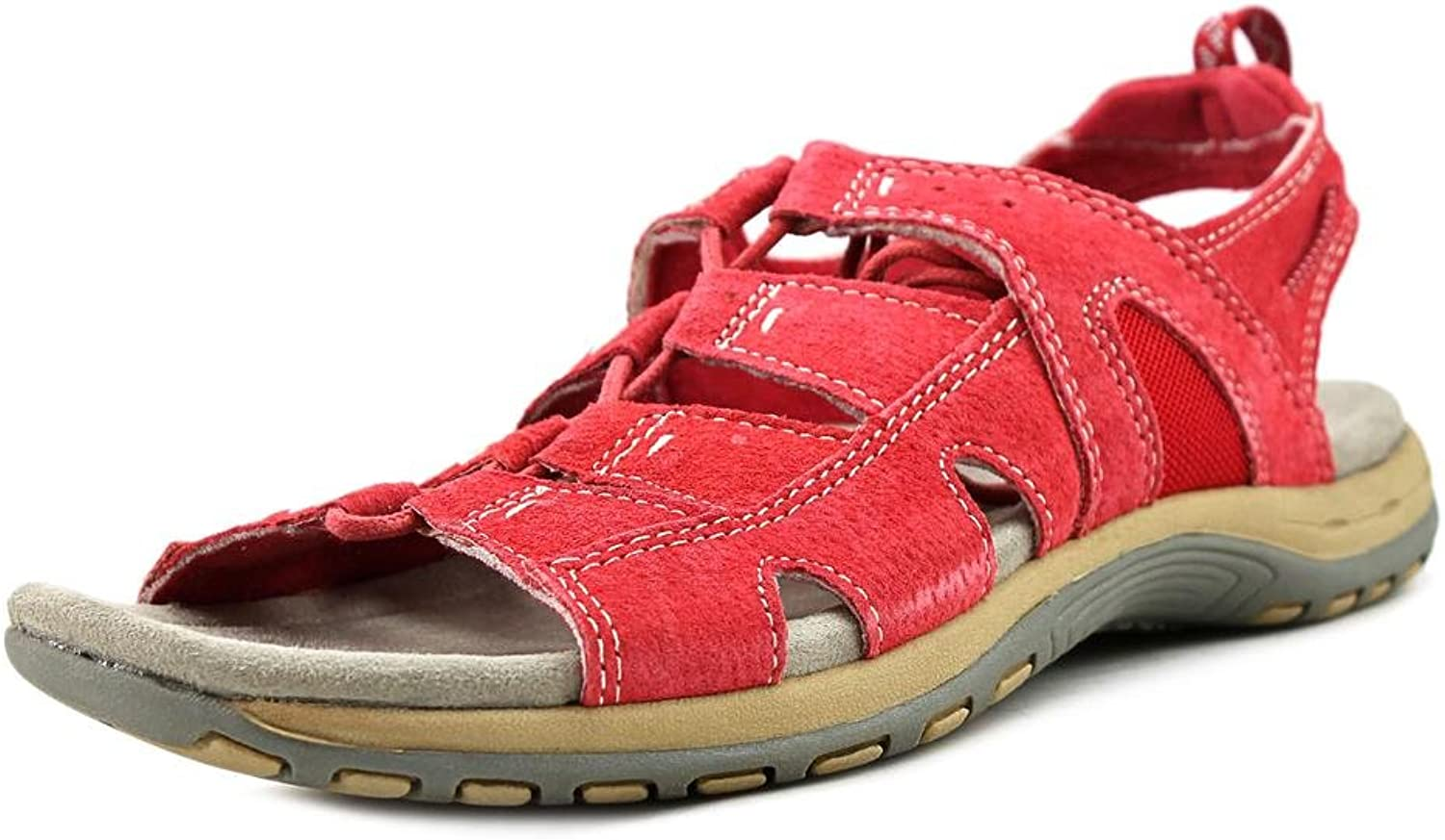 EARTH ORIGINS Womens Sassy Leather Open Toe Casual Slingback Sandals