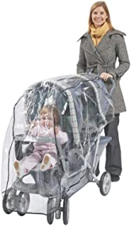 Comfy Baby! Rain Cover/Wind Shield for Twin Limo Tandem 2 Canopy Double Strollers - Clear