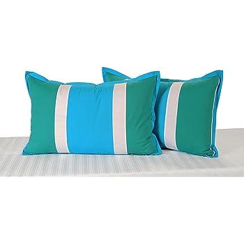 Swayam Drape and Dream Daisy Plain Cotton 2 Piece Pillow Cover Set - Multicolor (DPP-4501)
