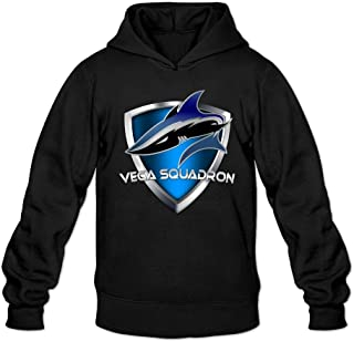XIULUAN Men's Vega Squadron Logo Hoodies XXL Black