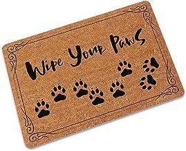llllsto0re Useful Entrance Entrance Floor Mat Funny Doormat Wipe Your Paws Door Mat Outdoor Indoor Rubber Mat Non-woven Fa...