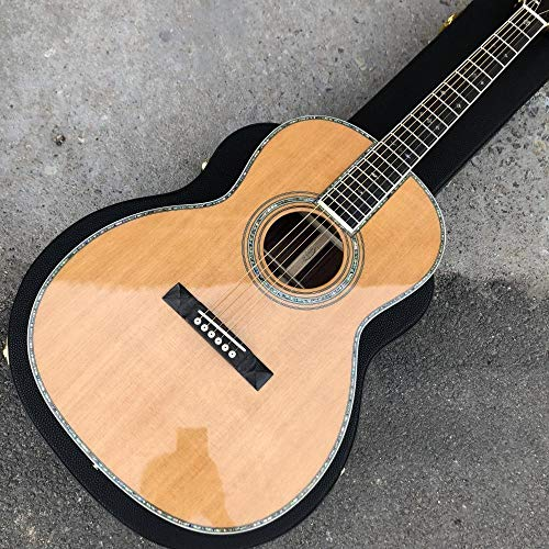 39 Inch Ooo Style Classic Acoustic Guitar Ebony Fingerboard Solid Spruce Top Acoustic Electric Guitar SYXMSM (Color : Guitar)