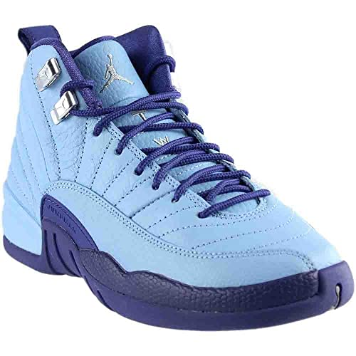 quality design 0d8c0 b9e17 Jordan Kid s Air 12 Retro GG, White Metallic Gold-University Blue