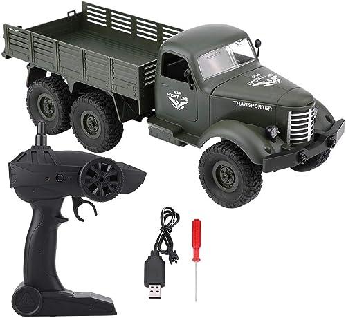 genuina alta calidad Zetiling Coche Coche Coche RC, 1 16 Antideslizante de Carga USB Seis Ruedas Modelo de Control Remoto Militar camión RC Coche de Juguete para Niños( 1)  aquí tiene la última