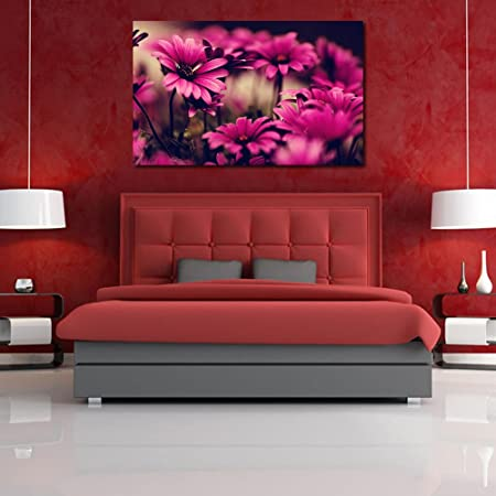 999Store Wooden Stretched Framed framed paintings painting wall for bedroom Wall art living room décor with frames Golden Daisy Flower canvas modern stylish home hanging ( Canvas 36X24 Inches Strectched Canvas) 30102014113
