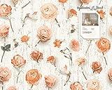 Tapete 327232 Kollektion Urban Flowers inklusive E-Book,Creme, Natur, Floral, Landhaus, A.S. Création, Vinyltapete 32723-2