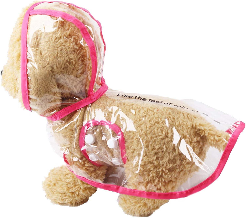 Nethaniah pet Raincoat Small Dog Jacket Puppy cat Transparent Transparent Outdoor Windproof Clothes