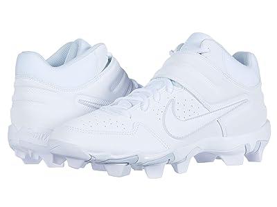 Nike Alpha Huarache Varsity Keystone Mid (White/White) Men