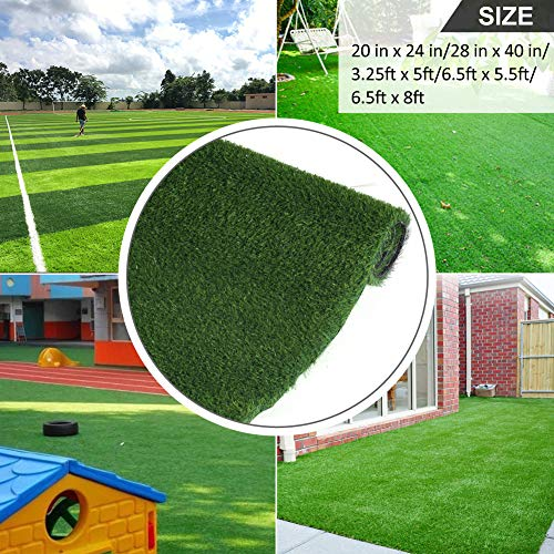 Grasslife Outdoor Thick Rug Deluxe Artificial Grass for Dogs Pee Pads - Puppy Potty Training, Easy to Clean, Blade Height 0.79 Inch, 6.5ft x 8ft (52 Square FT) 3 Tone