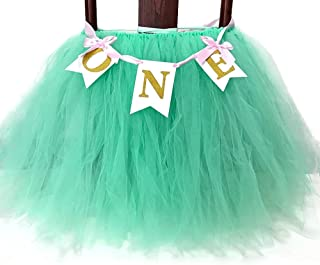 Festivous Wishel 23x35 1st Birthday Baby Tutu for High Chair Decoration for 1st Birthday Party Supplies (Mint Green)