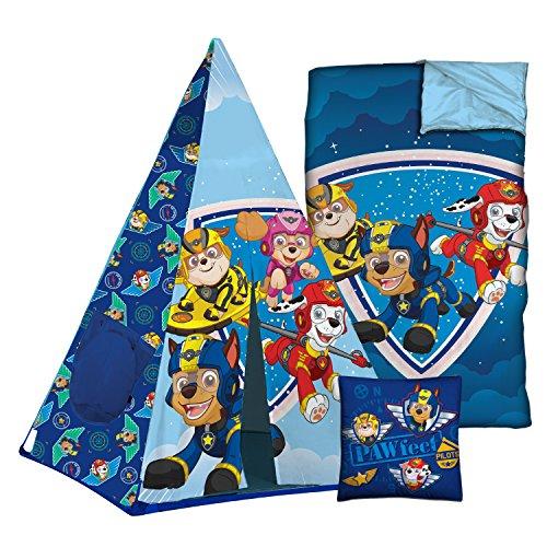 Nickelodeon Paw Patrol 3 Piece Slumber Set with Tee Pee, Sleeping Bag and Pillow
