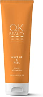 Wake Up & Peel Scalp Activator Exfoliating Peeling Mask for Dandruff Hyperkeratosis Hair Growth Itch Relief – Glycolic Acid Detox Scalp Cleanser Exfoliant with Zinc Biotin - OK Beauty