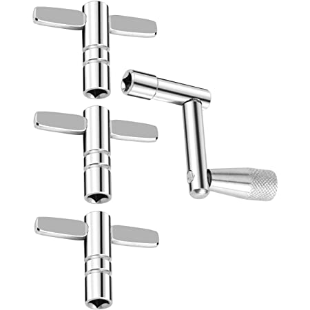 Drum Key 3-Pack with Continuous Motion Speed Key Universal Drum Tuning Key (Pack of 4)