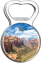 Weekino America USA Zion National Park Utah Fridge Magnet Bottle Opener Beer City Travel Souvenir Collection Strong Refrigerator Sticker
