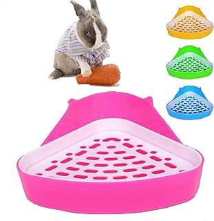 MINGZE Aseo para Mascotas, Caja de Arena de Esquina de Potty Trainer, para Ratas pequeñas, hámsters, cobayas (Colores alea...