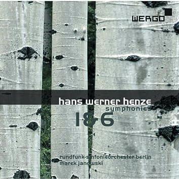 Hans Werner Henze: Symphonies 1 & 6