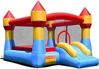 COSTWAY Castillo Hinchable con Tobogán para Niños 370x280x230cm Infantil Juguete para Parque Patio Jardín