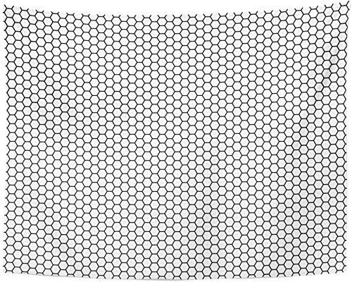 wymhzp Tapisserie Schwarzes Lautsprechergitter Sechseck Futuristische Wandteppiche Wandbehang für Wohnzimmer Raumdekorationen für Jugendliche Mädchen 150x130cm