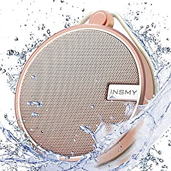INSMY Portable IPX7 Waterproof Bluetooth Speaker Wireless Outdoor Speaker Shower Speaker with HD Sound Support TF Card Suction Cup 12H Playtime for Kayaking Boating Hiking  Cashmere Pink