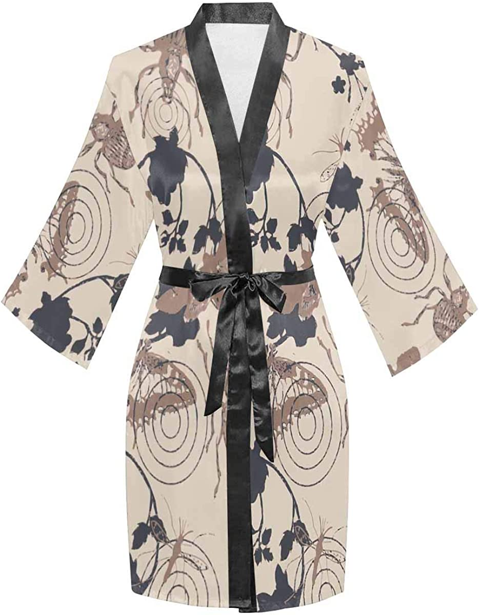 InterestPrint Women's Kimono NEW before selling Robes with security Long Oblique V-Ne Sleeve